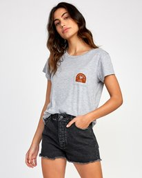 0 No Fight  Pocket T-Shirt Grey W412VRAH RVCA