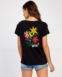 0 Grisancich Bouquet T-Shirt Black W412VRBO RVCA