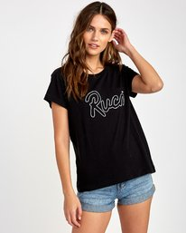 0 Flow Relaxed T-Shirt Black W412VRFL RVCA