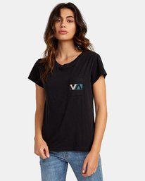 0 Lateral Pocket T-Shirt Black W412WRLA RVCA