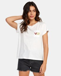 0 Lateral Pocket T-Shirt White W412WRLA RVCA