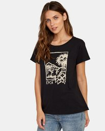 0 Linopalm Pocket T-Shirt Black W412WRLI RVCA