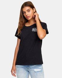 0 Phil Street Pocket T-Shirt Black W412WRPH RVCA