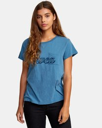 0 Pinscript Pocket T-Shirt  W412WRPI RVCA
