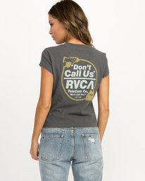 0 Don't Call Us Fitted T-Shirt Grey W419QRDO RVCA