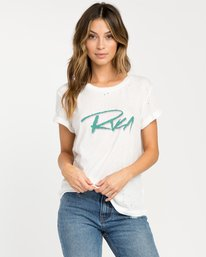 0 Skratch T-Shirt White W420PRSK RVCA