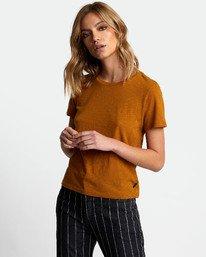 0 Solid Label Baby T-Shirt Orange W433URLA RVCA
