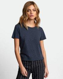 0 Solid Label Baby T-Shirt Blue W433URLA RVCA