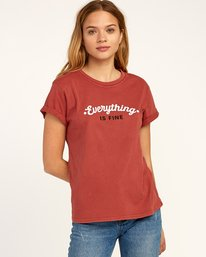 0 Everything Is Fine T-Shirt Red W436TREV RVCA