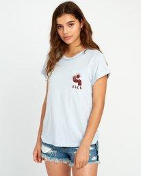 0 Mowgli Solaris Cuffed Crew T-Shirt Blue W436URSO RVCA