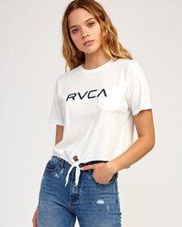 0 Big RVCA Knotted T-Shirt White W438TRBI RVCA