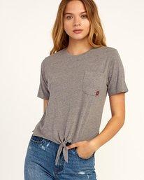 0 Morning VA Knotted T-Shirt Grey W438TRMO RVCA