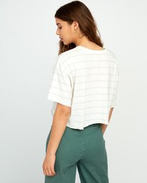 1 Vava Striped Cropped T-Shirt  W441URVA RVCA