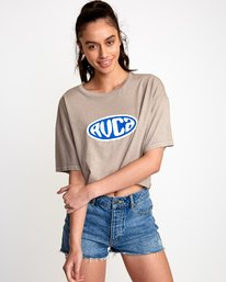 0 Slacker Cropped T-Shirt Grey W441VRSL RVCA