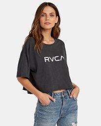 0 Big RVCA Cropped T-Shirt Black W441WRBR RVCA