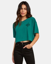 0 Coils Cropped T-Shirt  W441WRCO RVCA