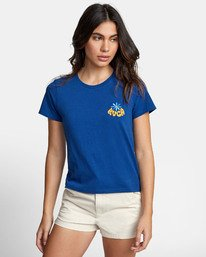 0 HAPPY DAYS T-SHIRT Blue W4471RHD RVCA