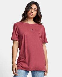 0 FINE LINE T-SHIRT Pink W4501RFL RVCA