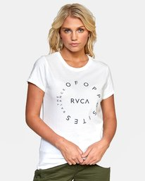 0 OFF BALANCE TEE White W4532ROB RVCA