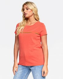 0 UNITED STRIPE TEE Orange W4532RUS RVCA