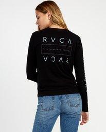 0 Upside Long Sleeve T-Shirt Black W456TRUP RVCA