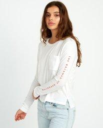 0 Split Up Long Sleeve Pocket T-Shirt White W456URSP RVCA
