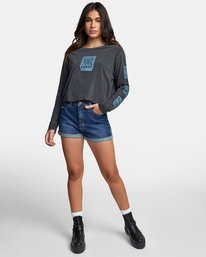 0 LA ROSA LONG SLEEVE BOYFRIEND T-SHIRT Black W4671RLR RVCA