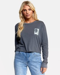 0 HOUSE PLANTS LONG SLEEVE BOYFRIEND TEE Green W4672RHP RVCA