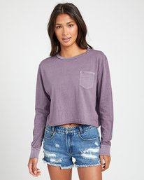0 PTC LONG SLEEVE BOYFRIEND T-SHIRT Grey W4673RPT RVCA