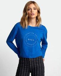 0 Inner Opposites Long Sleeve T-Shirt Blue W467VRIN RVCA