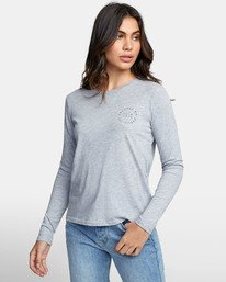 0 VA CIRCLE LONG SLEEVE T-SHIRT Grey W4681RVC RVCA