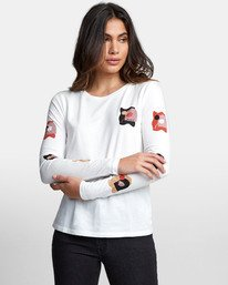 0 WINDOWS LONG SLEEVE T-SHIRT White W4681RWN RVCA