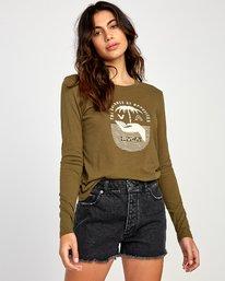 0 Merikesh Long Sleeve T-Shirt Green W468VRME RVCA