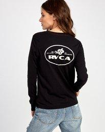 0 Serpent Long Sleeve T-Shirt Black W468VRSE RVCA