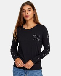 0 Century Long Sleeve T-Shirt Black W468WRCE RVCA