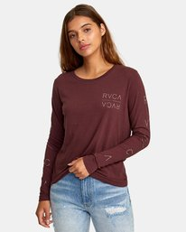 0 Century Long Sleeve T-Shirt Brown W468WRCE RVCA