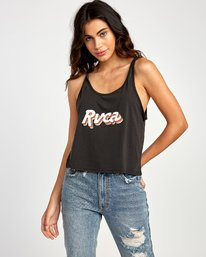 0 Grade Burnout Tank Top Black W477VRGR RVCA