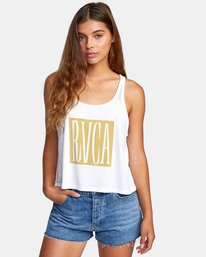 0 Stretched Tank Top White W477WRST RVCA