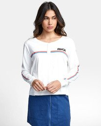 0 CANNONBALL LONG SLEEVE T-SHIRT White W4791RCA RVCA