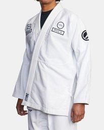 3 RVCA X Bedwin X Shoyoroll - Gi de jiu-jitsu pour Homme Blanc W4ESRARVP1 RVCA