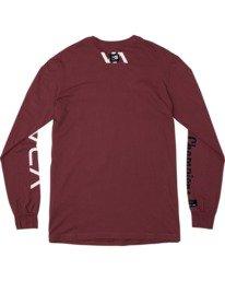 1 Everlast x Everlast Stack Patch - T-shirt manches longues pour Homme Marron W4LSMBRVP1 RVCA
