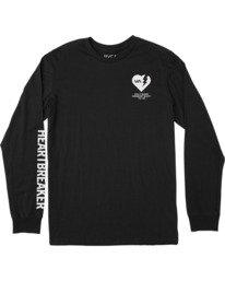 0 Bedwin Heartbreaker - T-shirt manches longues pour Homme Noir W4LSMCRVP1 RVCA