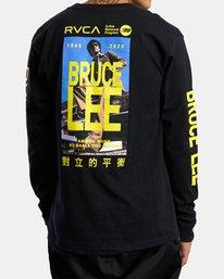 3 Bruce Lee As You Think - T-shirt manches longues pour Homme Noir W4LSMERVP1A RVCA