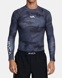 0 VA Sport - Lycra manches longues pour Homme Camo W4MYRARVP1 RVCA