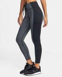 3 Everlast x RVCA Lace Up - Legging de sport taille haute pour Femme Gris W4PTWDRVP1 RVCA