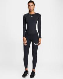 3 Compression - Legging de sport pour Femme Noir W4PTWHRVP1 RVCA