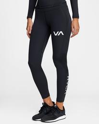 4 Compression - Legging de sport pour Femme Noir W4PTWHRVP1 RVCA