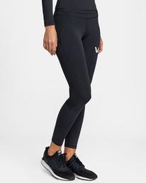 7 Compression - Legging de sport pour Femme Noir W4PTWHRVP1 RVCA