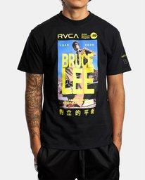 1 Bruce Lee As You Think - T-shirt pour Homme Noir W4SSMORVP1 RVCA