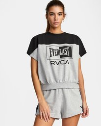0 Everlast x RVCA - Cropped Sweatshirt for Women Grey W4TPWBRVP1 RVCA